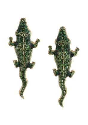 Natia X Lako Natia x Lako crocodile medium earrings - Green