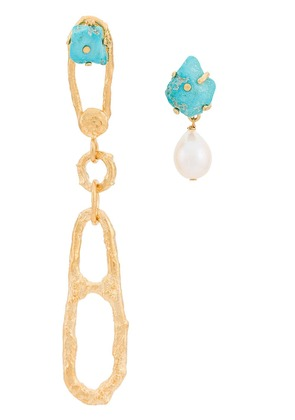 Forte Forte 'My jewel' earrings with stones and a pearl - Gold