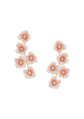 Jennifer Behr flower pendant earrings - White