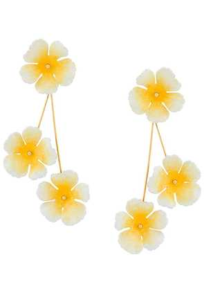 Jennifer Behr flower earrings - Yellow
