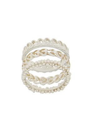 Wouters & Hendrix My Favourite textured stacked ring - Metallic