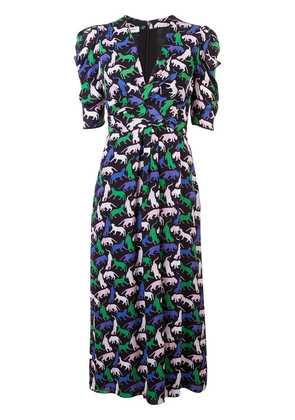 Carolina Herrera animal print dress - Black