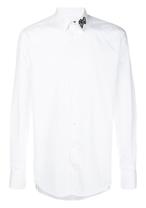 Dolce & Gabbana King patch collar shirt - White