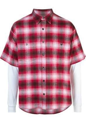 Adaptation short-sleeve check shirt - Red