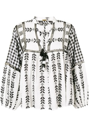 Dodo Bar Or Miguel ethnic embroidered blouse - Black