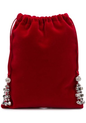 Ca & Lou embellished mini bag - Red