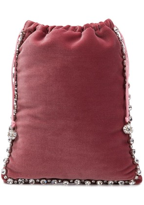 Ca & Lou velvet mini bag - Pink