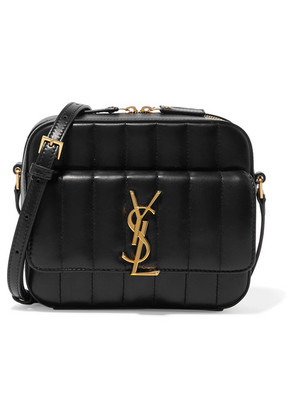 Saint Laurent - Vicky Quilted Leather Camera Bag - Black