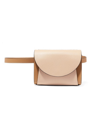Marni - Pochette Two-tone Textured-leather Belt Bag - Taupe