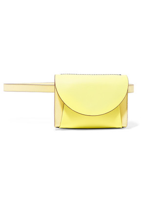 Marni - Pochette Two-tone Textured-leather Belt Bag - Pastel yellow