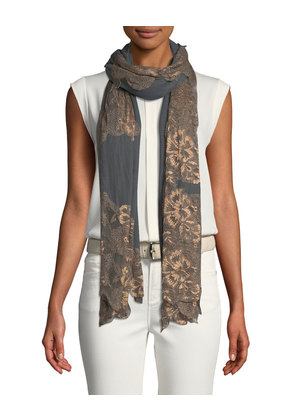 Lace Outlined Scarf