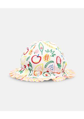 Stella McCartney Kids White Fruit Hat, Unisex, Size 1-3
