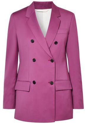 Calvin Klein 205w39nyc Woman Double-breasted Wool Blazer Magenta Size 48