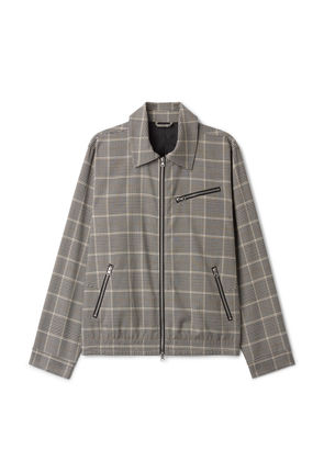 Elton Checked Zip Jacket - Grey