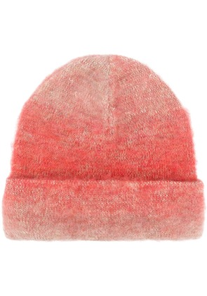 Acne Studios knitted beanie - Red