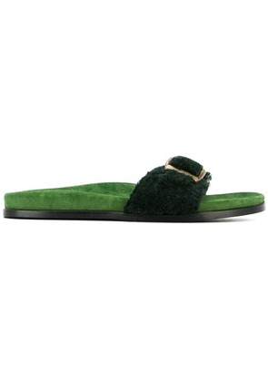 Avec Modération buckled slip-on sandals - Green