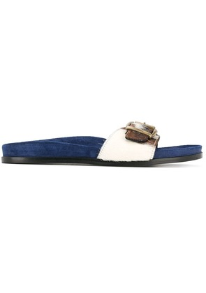 Avec Modération slip-on buckle sandals - Blue