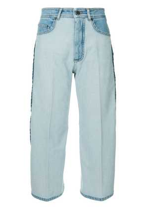 No21 cropped contrast jeans - Blue