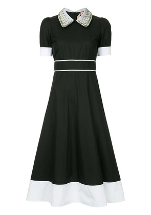 No21 fitted shirt dress - Black