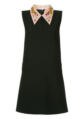 No21 pointed collar shift dress - Black