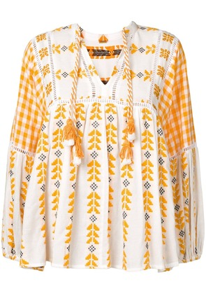 Dodo Bar Or embroidered blouse - White