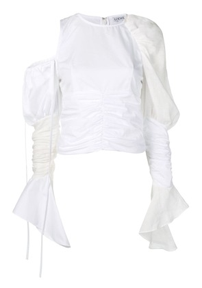 Loewe asymmetric gathered top - White