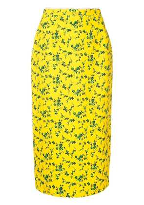 No21 straight floral skirt - Yellow
