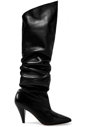 Givenchy - Leather Knee Boots - Black