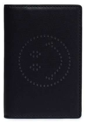 Anya Hindmarch Woman Leather Cardholder Midnight Blue Size -