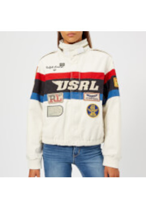 Polo Ralph Lauren Women's Racing Bomber Jacket - White/Blue/Red/Black Multi - S - Multi