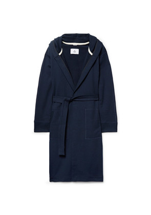 Reigning Champ - Loopback Cotton-jersey Hooded Robe - Navy
