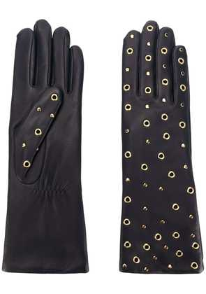 Agnelle gloves with all over rivets & studs - Blue