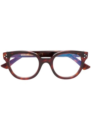 Cutler & Gross thick rimmed glasses - Brown
