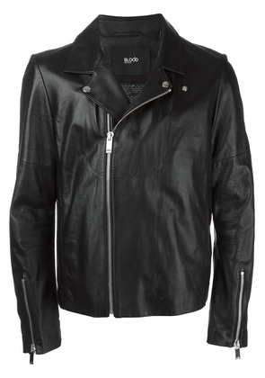 Blood Brother zip up biker jacket - Black