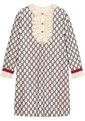 Gucci Short GG macramé dress - White