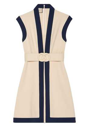 Gucci Viscose jersey dress with GG belt - Neutrals