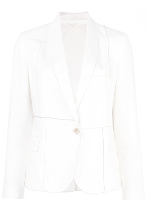 Brunello Cucinelli single breasted blazer - White