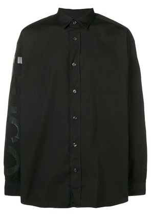 Boss Hugo Boss logo print shirt - Black