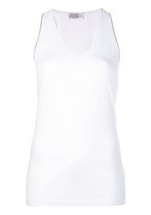 Brunello Cucinelli long tank top - White