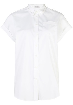 Brunello Cucinelli short-sleeve fitted shirt - White