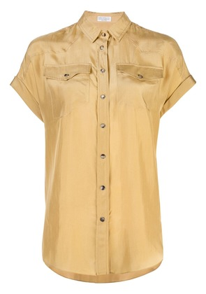 Brunello Cucinelli crepe shirt - Gold