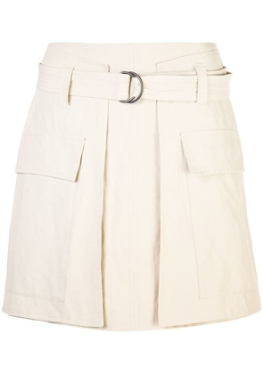 Brunello Cucinelli straight fit mini skirt - Brown