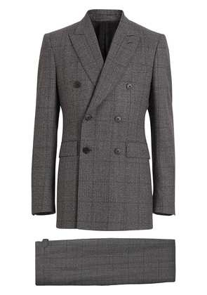 Burberry Classic Fit Prince of Wales Check Wool Suit - Grey