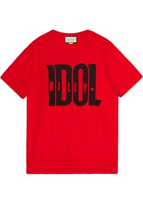 Gucci Oversize t-shirt with Billy Idol print - Red