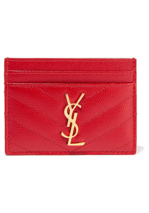 Saint Laurent - Quilted Textured-leather Cardholder - one size