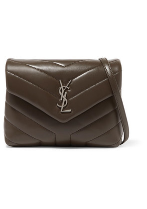 Saint Laurent - Loulou Toy Quilted Leather Shoulder Bag - Taupe
