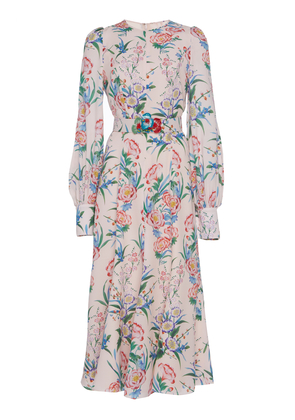 Andrew Gn Belted Woven Dress