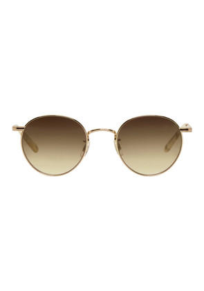Garrett Leight Gold Wilson Sunglasses