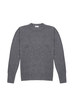 Doppiaa Grey Wool and Cashmere Round Neck Sweater