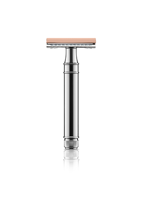 Floris London Chrome and Rose Gold Plate Double Edge Safety Razor